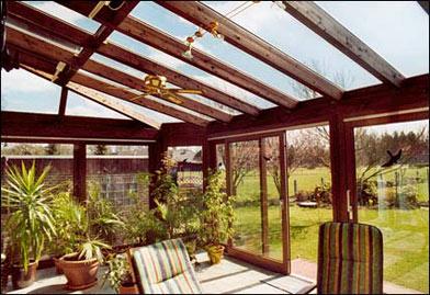 wintergärten aus holz, kunststoff und aluminium, Moderne